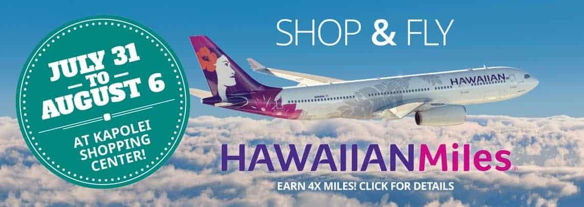 Shop & Fly with Hawaiian Miles