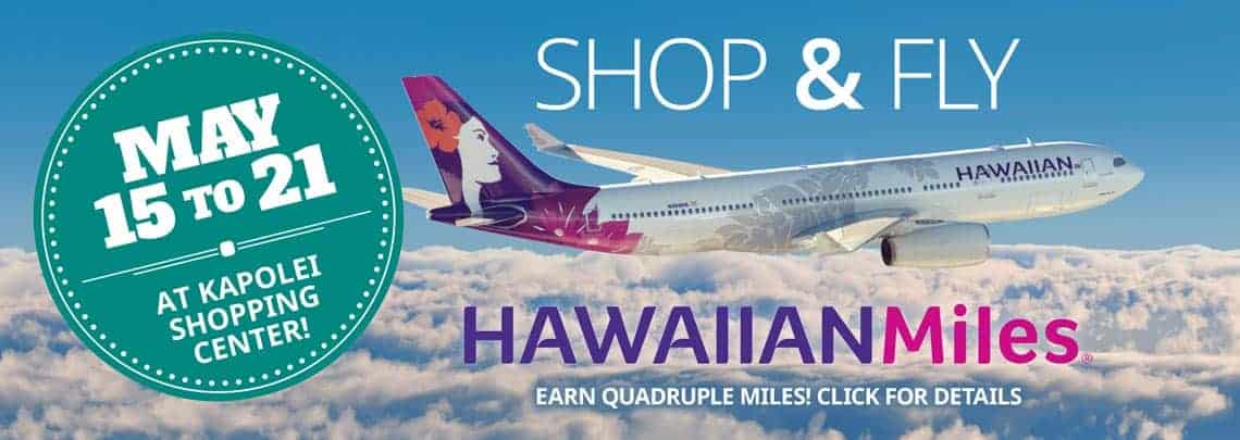 Shop & Fly with Hawaiian Miles