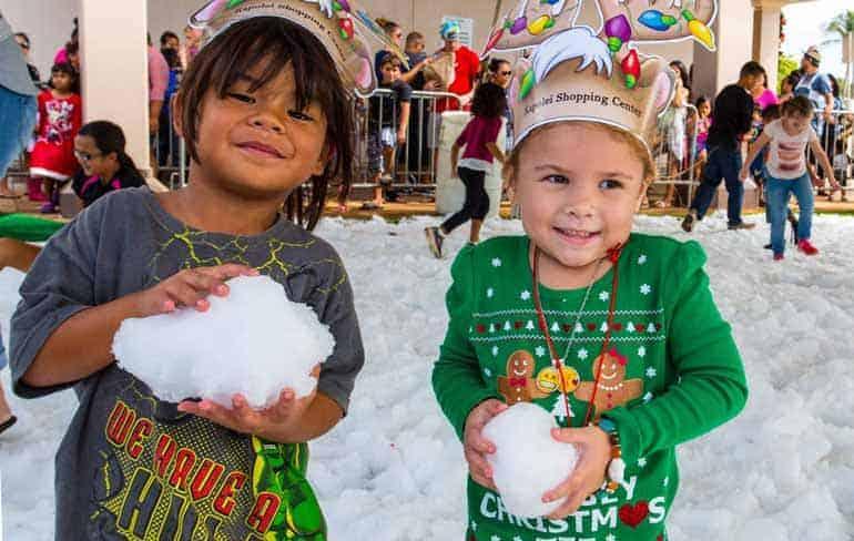 Have fun in the Snow at Santa Saturday